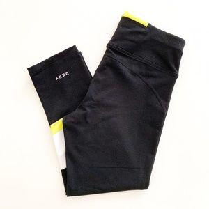 DKNY Sport Color Block Crop Capri Legging Black S